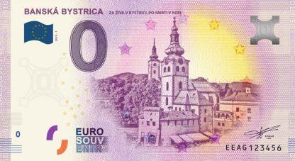 0 Euro Souvenir bankovka - BANSKÁ BYSTRICA 2018-1