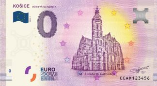 0 Euro Souvenir bankovka - KOŠICE 2018-1 - Dóm sv. Alžbety
