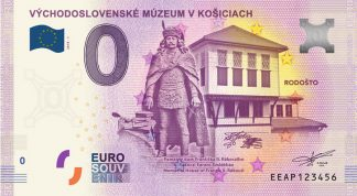 0 Euro Souvenir bankovka - VÝCHODOSLOVENSKÉ MÚZEUM V KOŠICIACH - RODOŠTO 2018-1