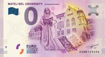 0 Euro Souvenir bankovka - Univerzita Mateja Bela v Banskej Bystrici - 2018-1