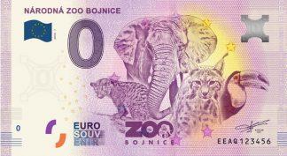 0 Euro Souvenir bankovka - NÁRODNÁ ZOO BOJNICE 2018-1