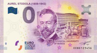 0 Euro Souvenir bankovka - Aurel Stodola 2018-1