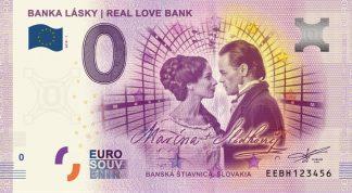 0 Euro Souvenir bankovka - Banka Lásky | Real Love Bank 2018-1