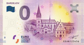 0 Euro Souvenir bankovka - BARDEJOV 2018-1