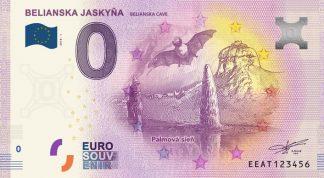 0 Euro Souvenir bankovka - Belianska jaskyňa 2018-1