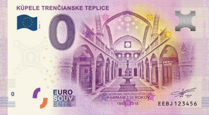 0 Euro Souvenir bankovka - Kúpele Trenčianske Teplice 2018-1