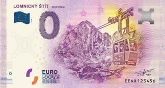 0 Euro Souvenir bankovka - Lomnický štít 2018-1