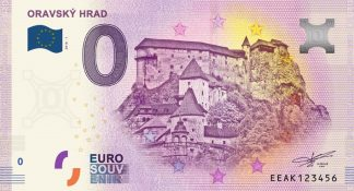 0 Euro Souvenir bankovka - ORAVSKÝ HRAD 2018-1