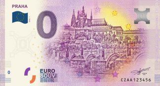 0 Euro Souvenir bankovka - Praha 2018-1