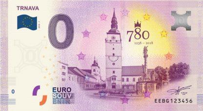 0 Euro Souvenir bankovka - Trnava 2018-1