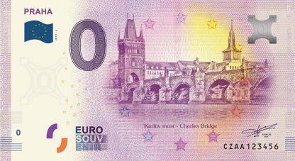 0 Euro Souvenir bankovka - Praha - Karlův most 2019-2