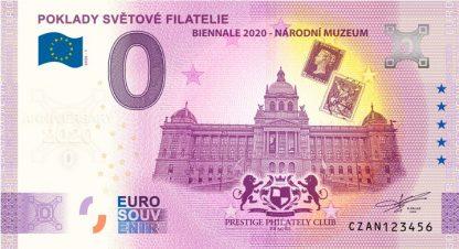 0 Euro Souvenir bankovka - Poklady světové filatelie 2020-1 - ANNIVERSARY 2020