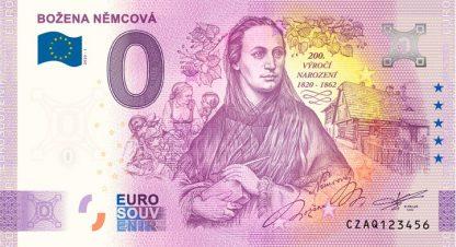 0 Euro Souvenir bankovka - Božena Němcová 2020-1