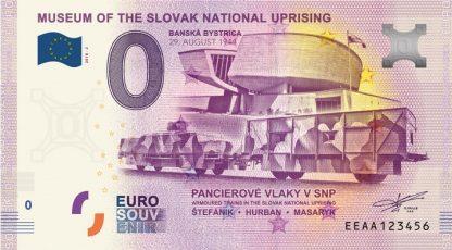 0 Euro Souvenir bankovka - Múzeum SNP 2018-2