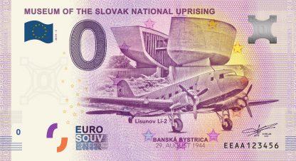 0 Euro Souvenir bankovka - Múzeum SNP 2019-3