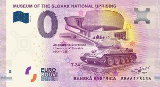 0 Euro Souvenir bankovka - Múzeum SNP 2020-4