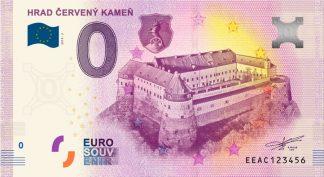 0 Euro Souvenir bankovka - Hrad Červený Kameň 2019-2