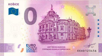 0 Euro Souvenir bankovka - Košice - Historická budova Štátneho divadla 2020-3