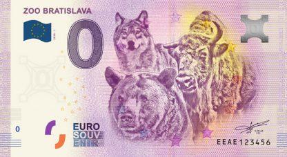 0 Euro Souvenir bankovka - ZOO BRATISLAVA 2018-1