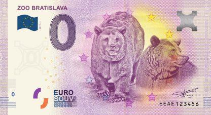 0 Euro Souvenir bankovka - ZOO Bratislava 2019-2