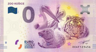 0 Euro Souvenir bankovka - ZOO KOŠICE 2018-1