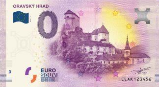 0 Euro Souvenir bankovka - ORAVSKÝ HRAD 2019-2