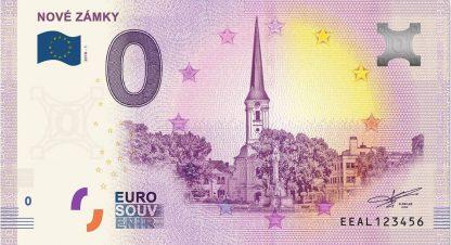 0 Euro Souvenir bankovka - NOVÉ ZÁMKY 2018-1