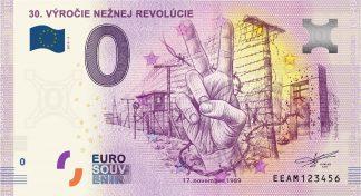 0 Euro Souvenir bankovka - 30.VÝROČIE NEŽNEJ REVOLÚCIE 2019-3