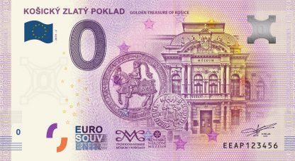 0 Euro Souvenir bankovka - KOŠICKÝ ZLATÝ POKLAD 2019-2