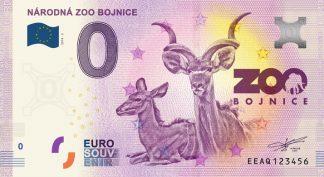 0 Euro Souvenir bankovka - NÁRODNÁ ZOO BOJNICE 2019-2