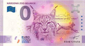 0 Euro Souvenir bankovka - NÁRODNÁ ZOO BOJNICE 2020-3