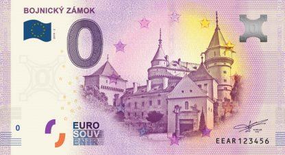 0 Euro Souvenir bankovka - BOJNICKÝ ZÁMOK 2019-2