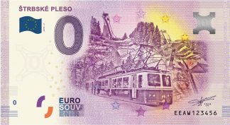 0 Euro Souvenir bankovka - Štrbské pleso 2019-2