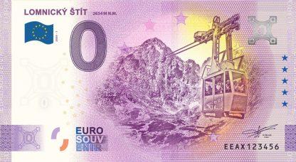 0 Euro Souvenir bankovka - Lomnický štít 2020-1