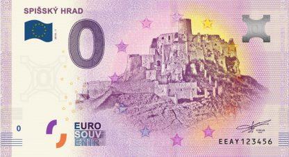 0 Euro Souvenir bankovka - Spišský hrad 2018-1