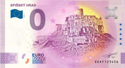 0 Euro Souvenir bankovka - Spišský hrad 2020-1