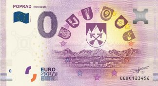 0 Euro Souvenir bankovka - Poprad 2019-2