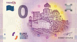 0 Euro Souvenir bankovka - TRENČÍN 2019-1 (chybotlač)