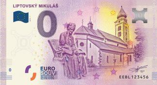 0 Euro Souvenir bankovka - Liptovský Mikuláš 2019-1