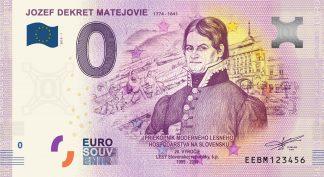 0 Euro Souvenir bankovka - Jozef Dekret Matejovie 2019-1