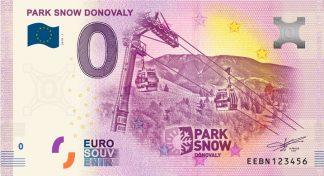 0 Euro Souvenir bankovka - PARK SNOW Donovaly 2019-1
