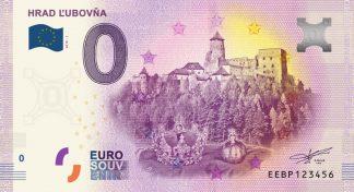 0 Euro Souvenir bankovka - Hrad Ľubovňa 2019-1