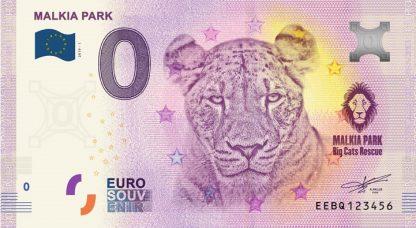 0 Euro Souvenir bankovka - Malkia park 2019-1
