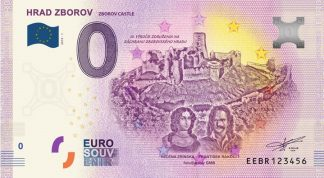 0 Euro Souvenir bankovka - Hrad Zborov 2019-1