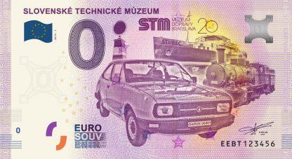 0 Euro Souvenir bankovka - Slovenské technické múzeum 2019-1
