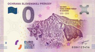 0 Euro Souvenir bankovka - Ochrana slovenskej prírody 2019-1