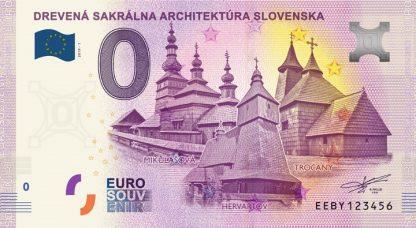 0 Euro Souvenir bankovka - Drevená sakrálna architektúra Slovenska 2019-1