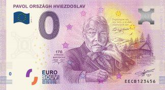 0 Euro Souvenir bankovka - Pavol Országh Hviezdoslav 2019-1