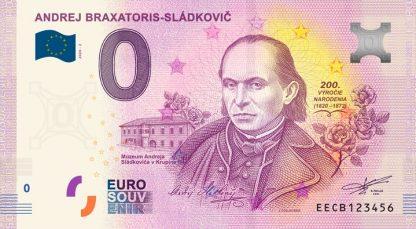 0 Euro Souvenir bankovka - Andrej Braxatoris-Sládkovič 2020-2