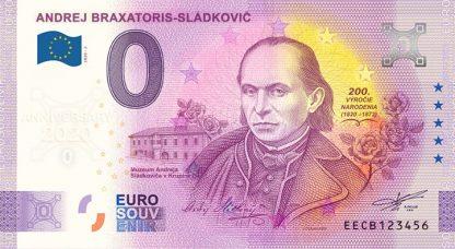 0 Euro Souvenir bankovka - Andrej Braxatoris-Sládkovič 2020-2 - ANNIVERSARY 2020